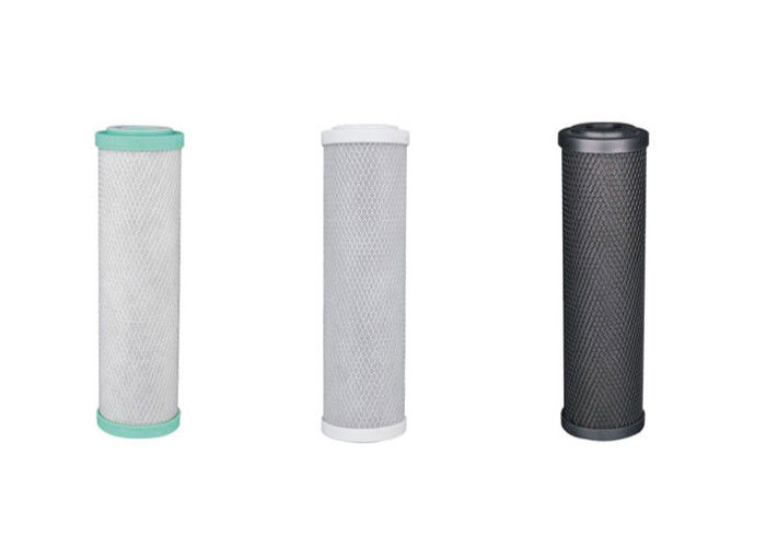 "CTO filter cartridge for residential water purifier, BB or standard Dia. 2.5"" slim, DOE end pressure type"