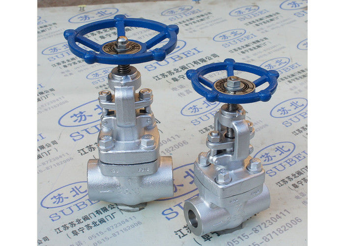 Forged steel female wrought gate valve for honey & molasses transfer PN16 Mpa PN80 Mpa DN10 - DN25